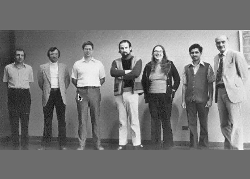 COMPUTER SCIENCE FACULTY: Computer science also grew in mathematics as information science, in the research foundation and at Argonne National Laboratory, with important contributions including IIT's version of FORTRAN. In 1971, as we celebrated last year, the computer science department was formed. It had an enormously successful faculty and students who went out to success into the field, with such people as Robert Dewar, Jack Dongarra, Robert Tobey, Anthony Wojcik, and Martha Evens. Computation and compu