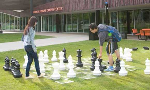 Play a game of chess at the McCormick Tribune Campus Center (MTCC) [photo credit: Bonnie Robinson]