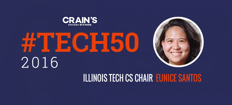 Eunice Santos was named to the Crain's list of people to know in Chicago's tech ecosystem.