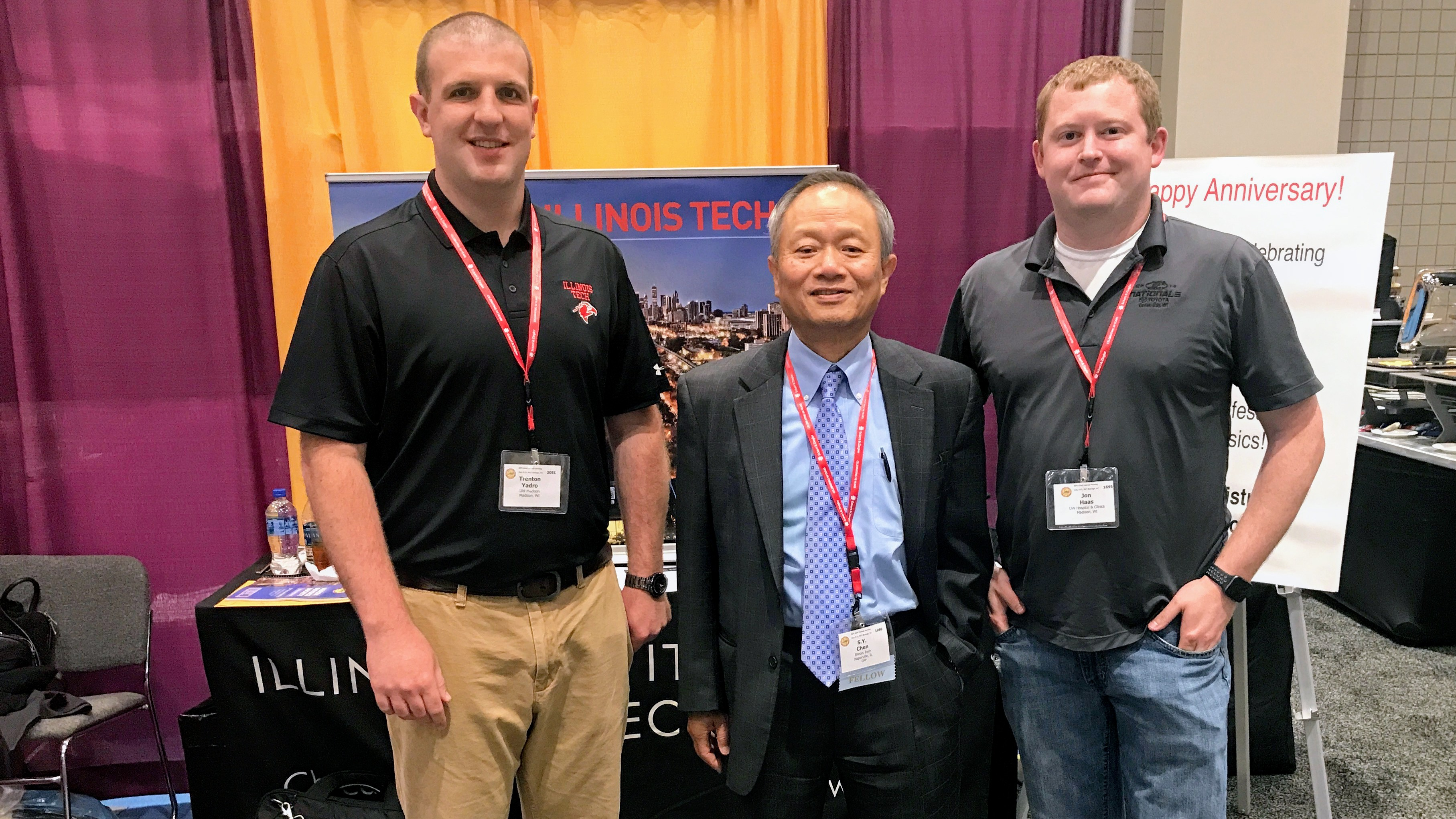 Trenton Yadro, S.Y. Chen, and Jon Haas at the 2017 Health Physics Society Meeting in Raleigh, NC.