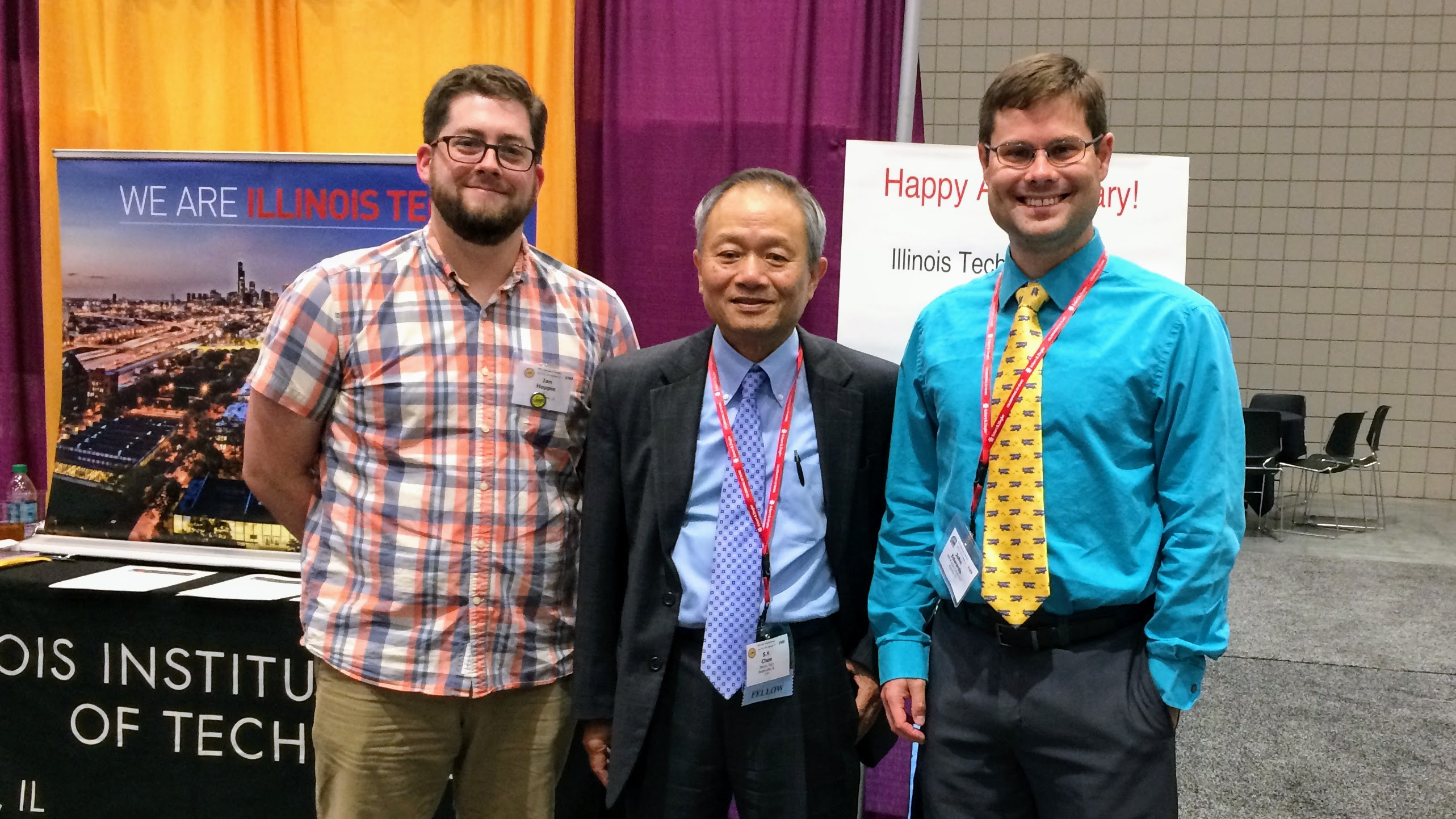 Ian Hoppie, S.Y. Chen, and John Edwards at the 2017 Health Physics Society Meeting in Raleigh, NC.