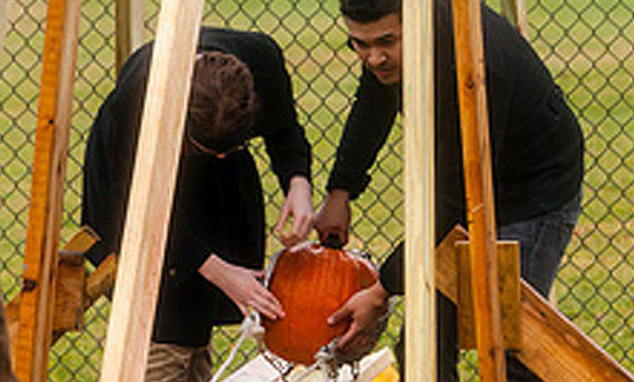 See how far you can throw a pumpkin in the annual pumpkin launch