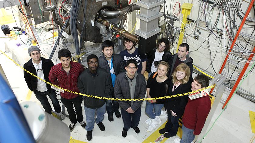 Physics 100 students tour Fermilab near Batavia, Ill., about 40 miles west of Illinois Tech.